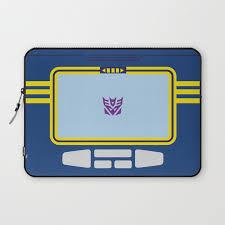minimalist laptop soundwave transformers minimalist laptop sleeve by adamjames society6
