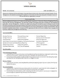 Sample Resume Of Cpa by Good Cv Resume Sample For Experienced Chartered Accountant 1