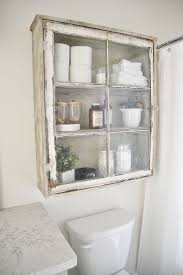 Vintage Bathroom Storage Cabinets Diy Bathroom Cabinet Antique Windows Bathroom Storage And