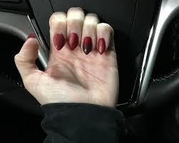 uv powder gel nails no chip polish opi 11 matte black ombré