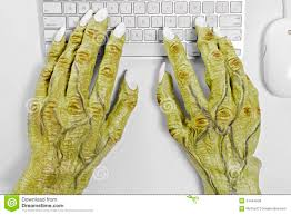 halloween monsters background image monster keyboard hands pair halloween using mouse against