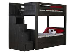 Twin Over Full Bunk Bed With Stairs Black Full Over Full Bunk Bed With Staircase
