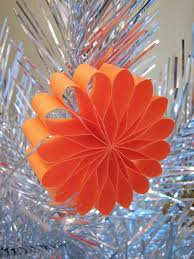 paper flower ornaments how about orange