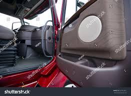 Interior Modern Luxury Red Semi Truck Stock Photo 327913931