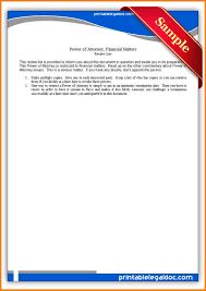 Customs Power Of Attorney Template by 10 One Time Power Of Attorney Form Attorney Letterheads