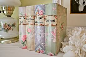the polka dot closet vintage wallpaper covered books