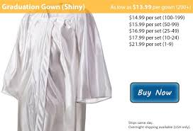 white graduation gowns shiny white graduation gowns from honors graduation