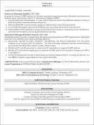 resume sample 1 it executive resume career resumes