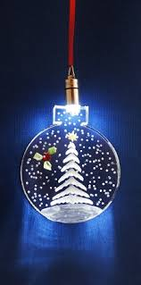 lighted ornament white tree