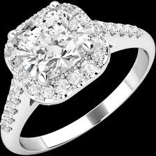 art deco style ring diamond cluster engagement ring for women in