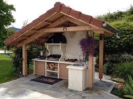 cuisine d ext駻ieure barbecue façon cuisine d été estivale roc de