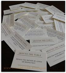 Table Topics Game by Around The Table Book 60 Printable Conversation Starters