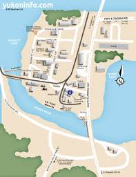 Yukon River Map Carcross Map