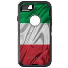 Green Black Red Flag Otterbox Defender For Iphone 6 6s 7 8 Plus X Red White Italian