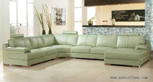 Cow Leather Sofa Free Shipping Beige Green Sofa Large Size Leather Sofa Real Cow