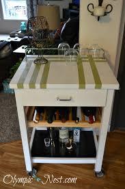 diy kitchen cart diy kitchen cart to bar cart makeover u2014 the olympic nest