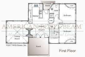 Timberpeg Floor Plans Meeks Point Guest Cottage U2013 Post And Beam Floor Plan American