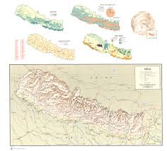 Map Nepal India by
