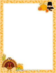 thanksgiving border printable ribbons frames borders for