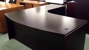 performance l shape desk in espresso finish youtube