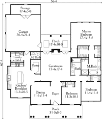 Southern Floor Plans Southern Style House Plan 3 Beds 2 50 Baths 1955 Sq Ft Plan 406 285