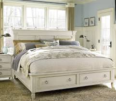 Wooden King Size Bed Frame Country Chic Wood King Size White Storage Bed Storage Beds