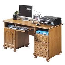 bureau rustique bureau ministre informatique style classique l 144 cm chêne