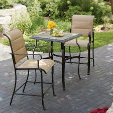 Patio Bistro Table Chair 3 Cafe Table Set Blue Bistro Table And Chairs