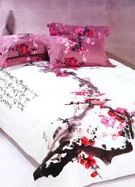 Duvet Bed Set 4 Pc Classical White And Red Cotton Duvet Cover Oriental Bedding