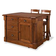 home styles aspen rustic cherry kitchen island with seating 5520