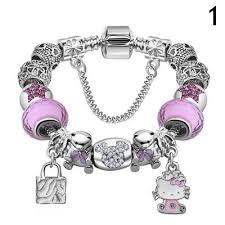 murano glass bead bracelet images Hello kitty murano glass bead bracelet poochie telly pet boutique jpg