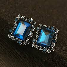 stud earrings online online cheap square gold big stud earrings for women vintage brand