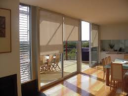 using pretty sliding glass door blinds as the smart window