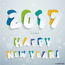 new year sticker 2017 happy new year stickers flat design font colorful letters