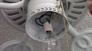 Pull String Lights by Ceiling Fan Pull Switch Repair How To Repair Fan With Single