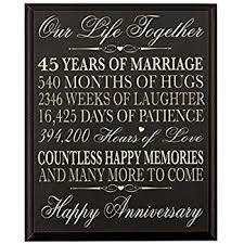 45th wedding anniversary parents 45th wedding anniversary wall plaque gifts for