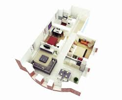 small houses plans elegant 25 more 2 bedroom 3d floor plans