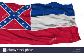 Missippi State Flag Isolated Mississippi Flag Usa State Stock Photo Royalty Free
