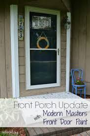 Navy Blue Door Front Porch Update With Modern Masters Paint Refresh Living