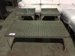 Patio Coffee Table Set by 3 Piece Golden Gate Outdoor Patio Coffee Table U0026 End Table Set