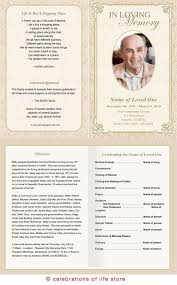 memorial service programs memorial service program template classic funeral bulletin