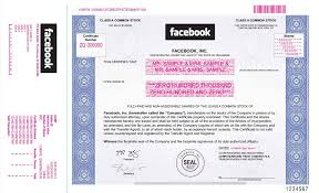 facebook stock certificate this is what a real share looks like