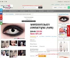 shopping step how to buy colored contact and halloween contacts