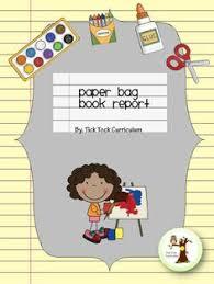 paper bag book report template book report k 2 book bags and paper