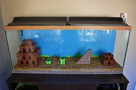 a mario bros aquarium get built from scratch