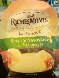 3 recette de cuisine la fondue recette savoyarde aux 3 fromages richesmonts 450 g e