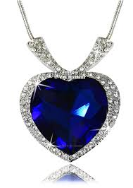 titanic blue necklace images Buy via mazzini gold plated sapphire blue titanic crystal pendant jpg