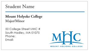 Avery 5871 Business Cards Business Card Template Mount Holyoke College