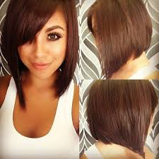 silky haircuts trendy inclined bang capless charming silky straight heat