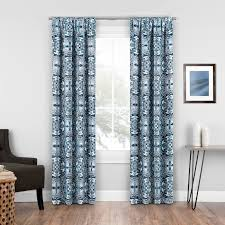 Single Blackout Curtain Winston Porter Elena Medallion Blackout Rod Pocket Single Curtain